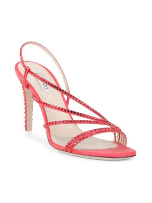 Attico Strappy Crystal Sandals