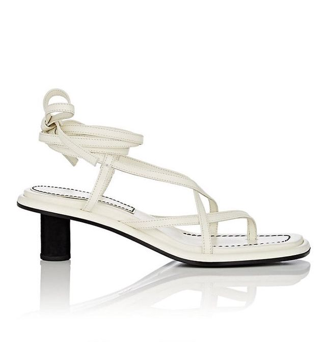 Proenza Schouler Leather Ankle-Tie Sandals