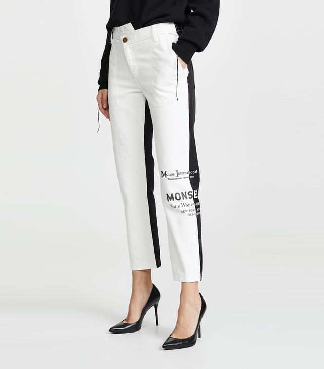 Monse Half and Half Jeans
