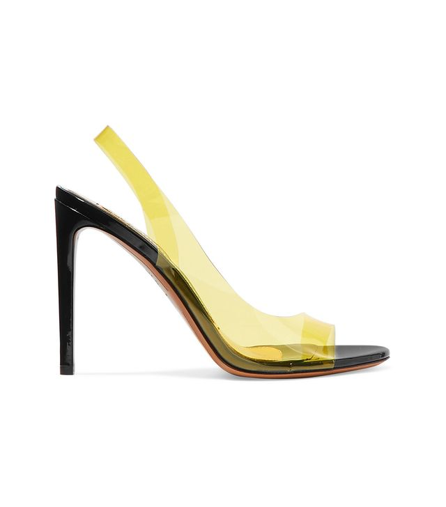 Alexandre Vauthier Amber Ghost Patent-Leather and PVC Sandals