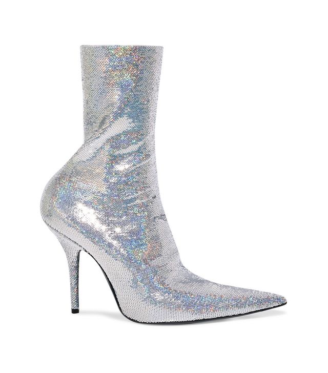 Balenciaga Knife Sequined Spandex Sock Boots