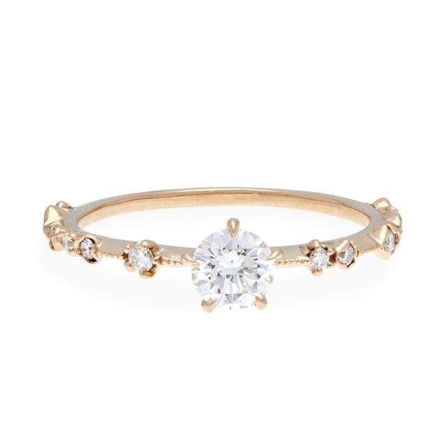 Kataoka New Moon Diamond Soliatire Ring