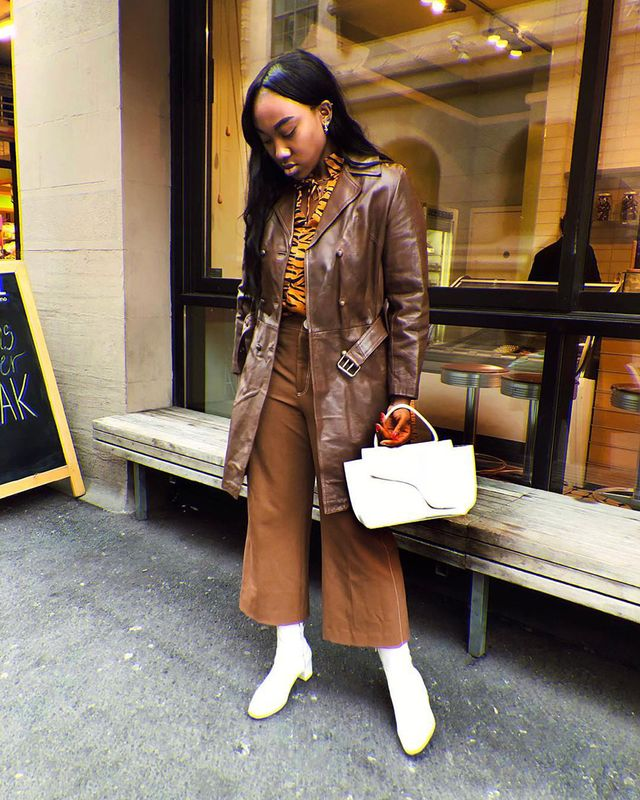 All Brown Outfits: Jacket and Trousers