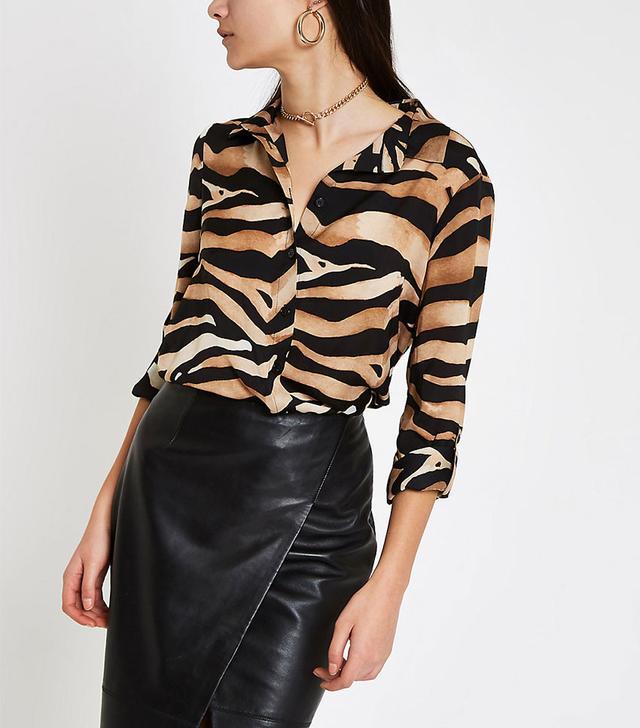 River Island Zebra Shirt