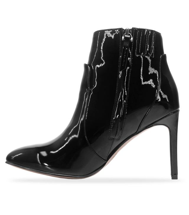 Who What Wear Rebekah Patent Pointed Heeled Boots