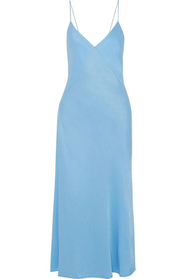 Victoria Beckham Satin-Crepe Midi Dress