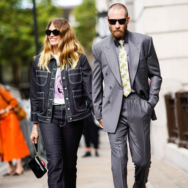 Justin O'Shea and Veronika Heilbrunner Street Style