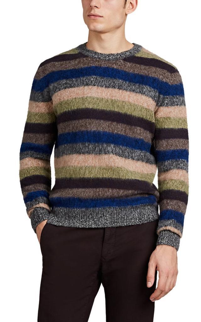 S. Moritz Striped Brushed Wool Sweater