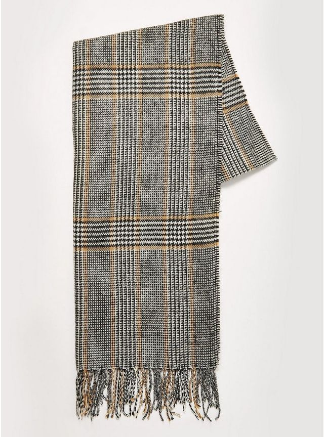 Topman Prince Of Wales Check Scarf