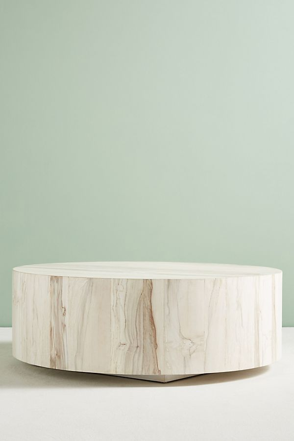 Anthropologie Swirled Drum Coffee Table