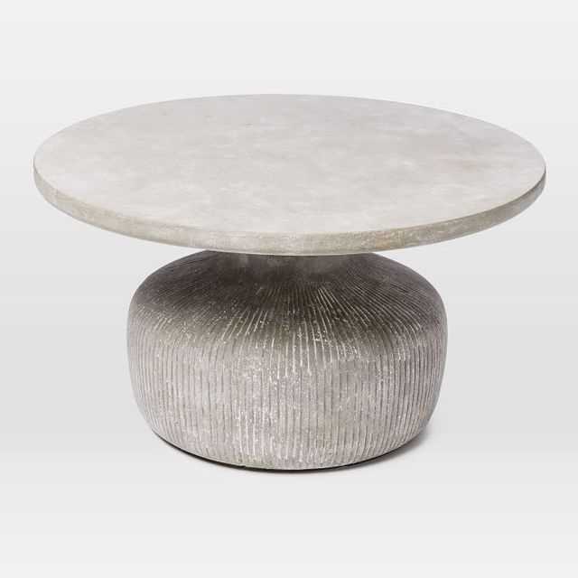 West Elm Tambor Concrete Coffee Table