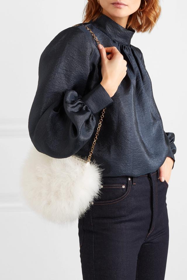 Carolina Santo Domingo Knitted Feather Shoulder Bag