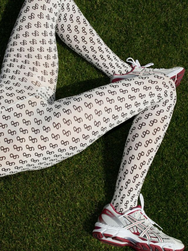 Saks Potts Tights with Printed SP Logo