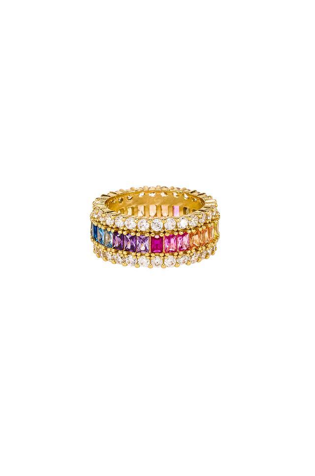 The M Jewelers NY Three Row Rainbow Ring
