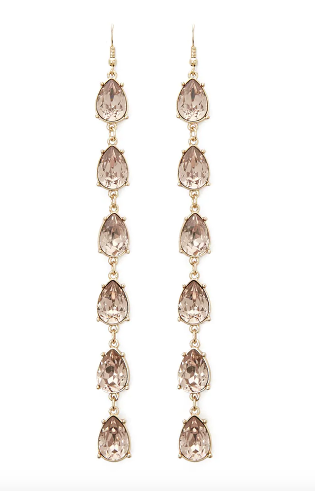 Forever 21 Tiered Faux Gem Duster Earrings