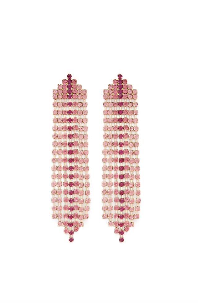 Forever 21 Colorful Rhinestone Drop Earrings
