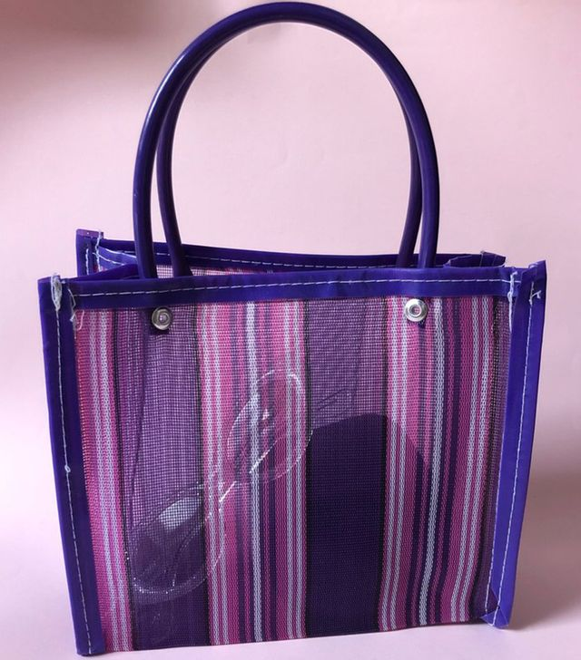 Chivatas Purple and Pink Stripes Bag