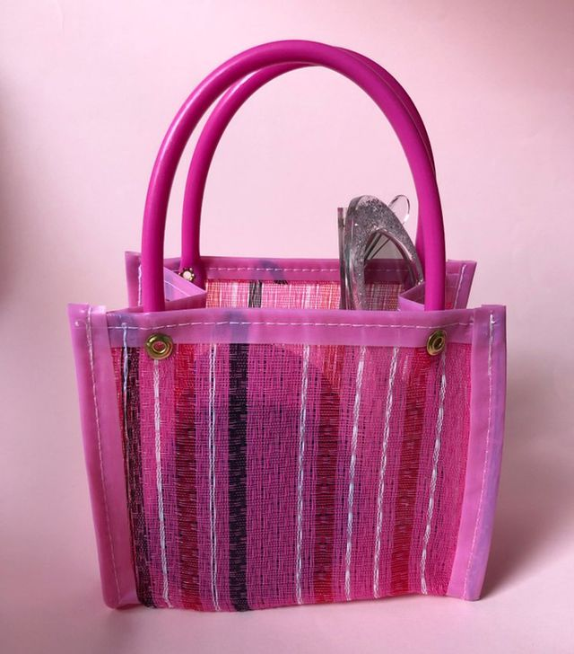 Chivatas Pink Striped Bag