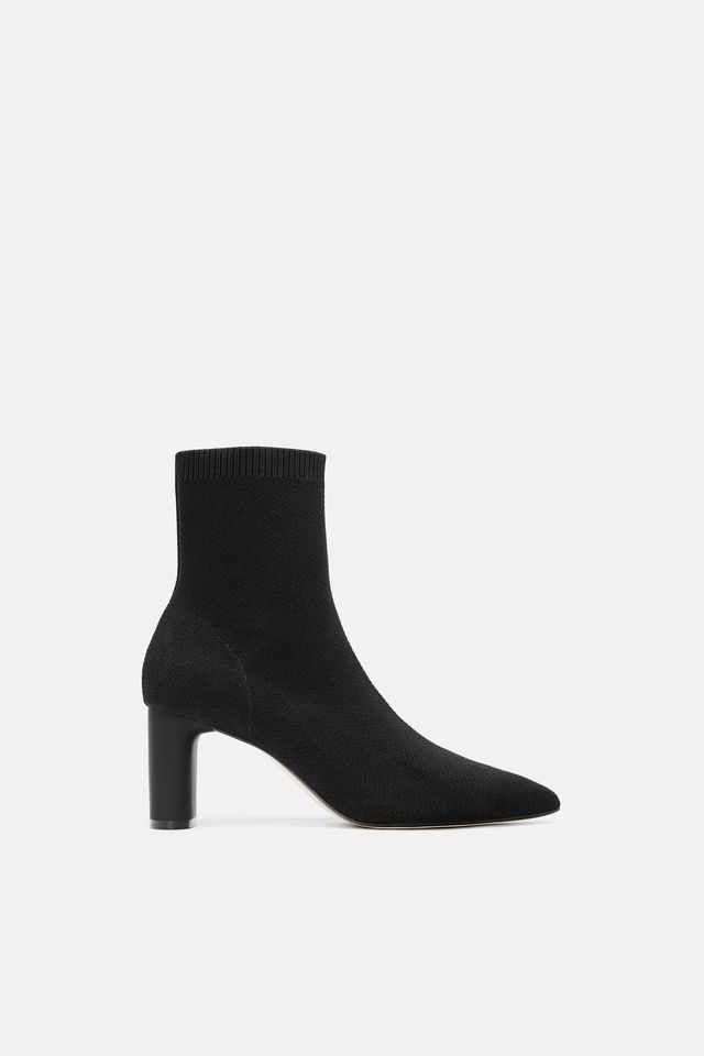 Zara Fabric Heeled Ankle Boots