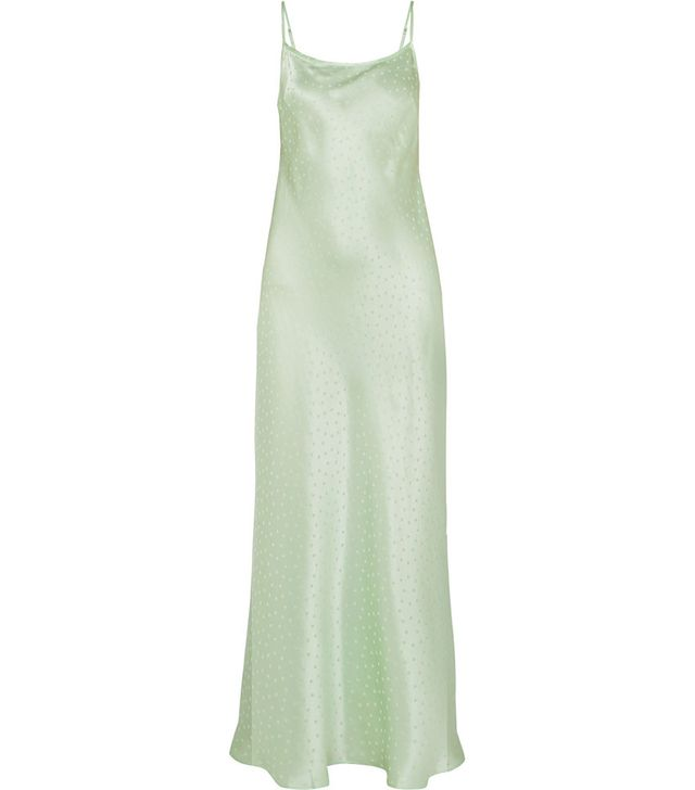 Rixo Holly Polka-Dot Silk-Charmeuse Jacquard Dress