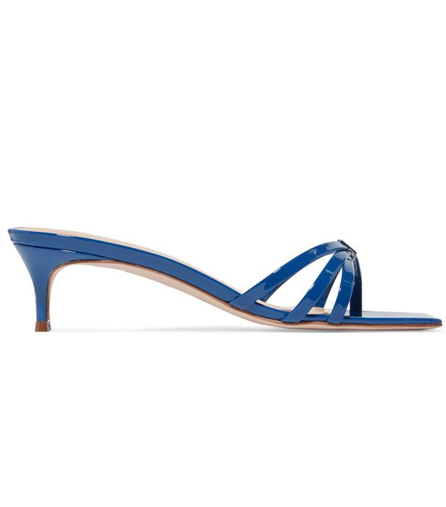 By Far Libra Patent-Leather Mules