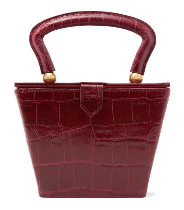Staud Sadie Croc-Effect Leather Tote