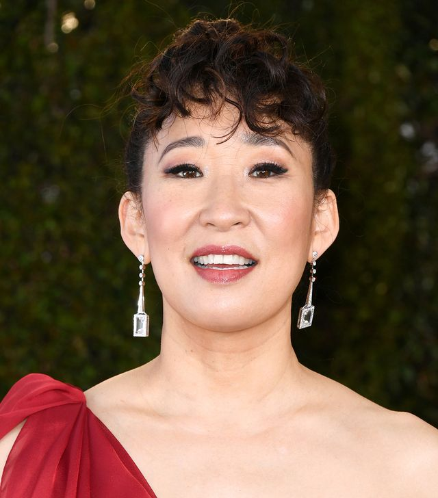<p>Sandra Oh may be nominated for her starring role in <em>Killing Eve</em>, but we'd say she's doing a pretty great job of killing her hair game too. Her pretty twirled bangs offer the perfect...