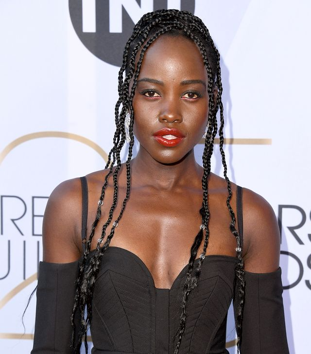 <p>Lupita Nyong'o, where do we even start? Drippy patent red lip? Bead-studded braids? Rose-hued sparkling liner? <em>Slow</em>. <em>Clap</em>. </p>