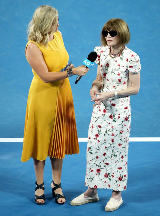 Anna Wintour Wore Flats to the Australian Open