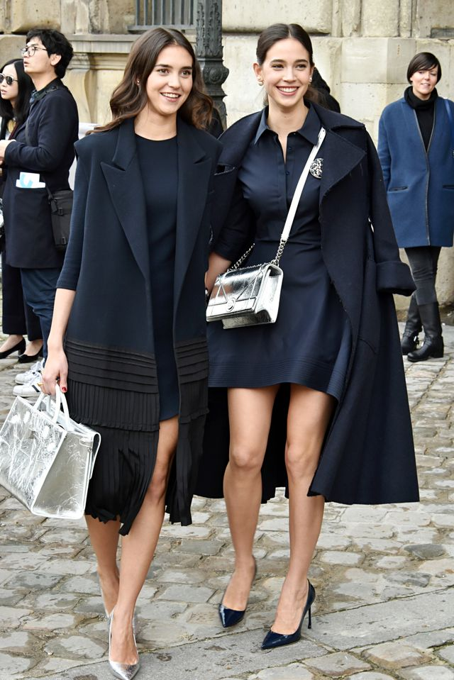 Vera and Viola Arrivabene at Paris Fashion Week