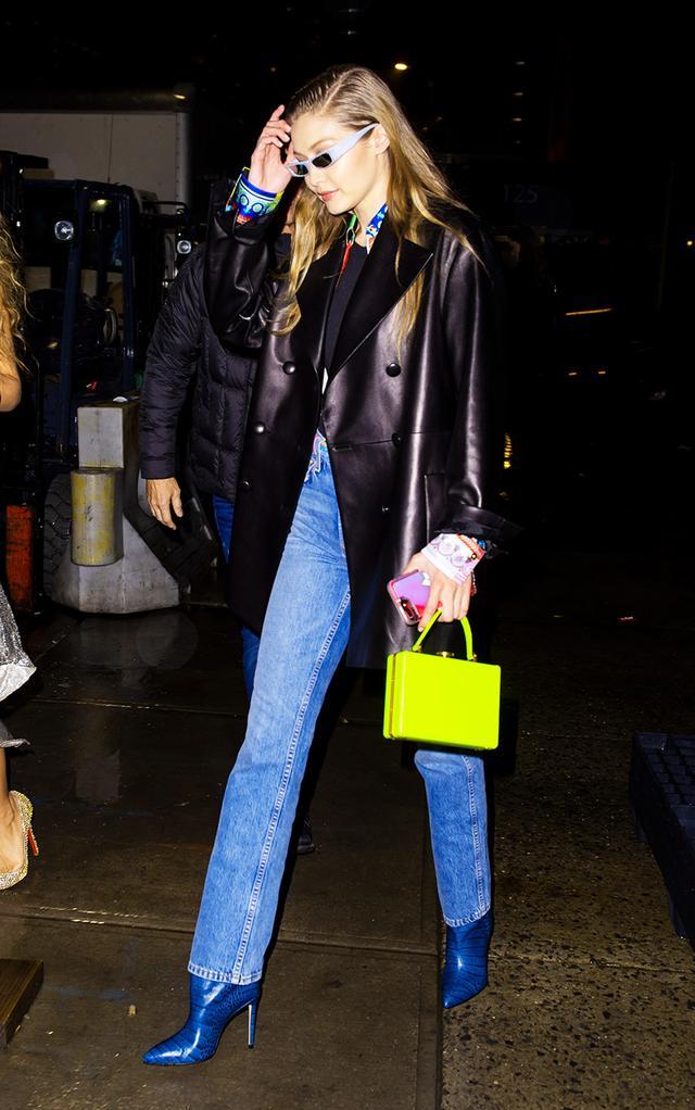 Neon clothing trend: Gigi Hadid