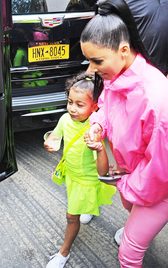 Neon clothing trend: North West