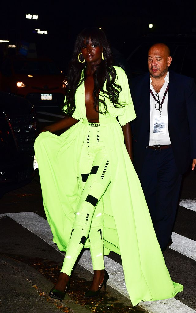 Neon clothing trend: Duckie Thot