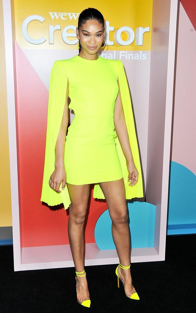 Neon clothing trend: Chanel Iman