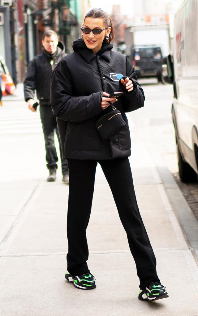 Neon clothing trend: Bella Hadid