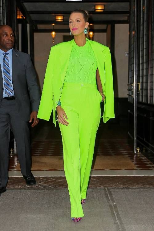 Neon clothing trend: Blake Lively