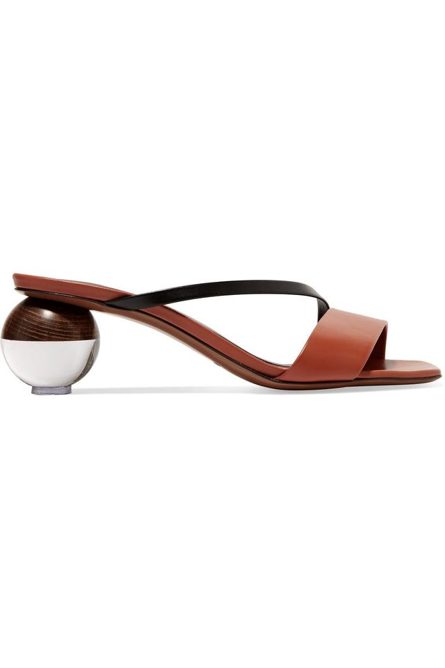 Neous Gia Two-Tone Leather Mules