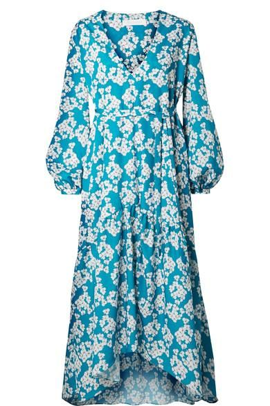 Borgo de Nor Beatrice Floral-print Crepe Midi Dress