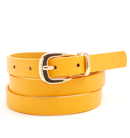 Forever21 Faux Leather Skinny Belt