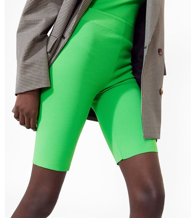 Zara Fluorescent Bike Shorts