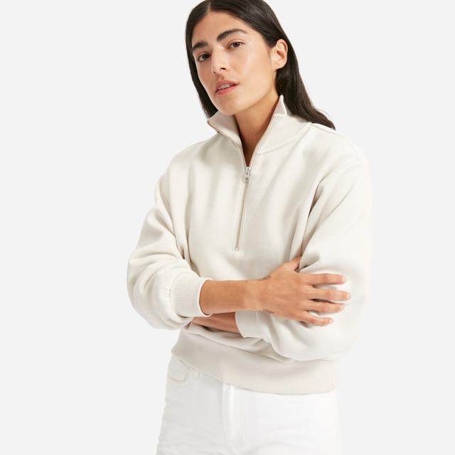 Everlane Oversized Fleece Half-Zip Sweater