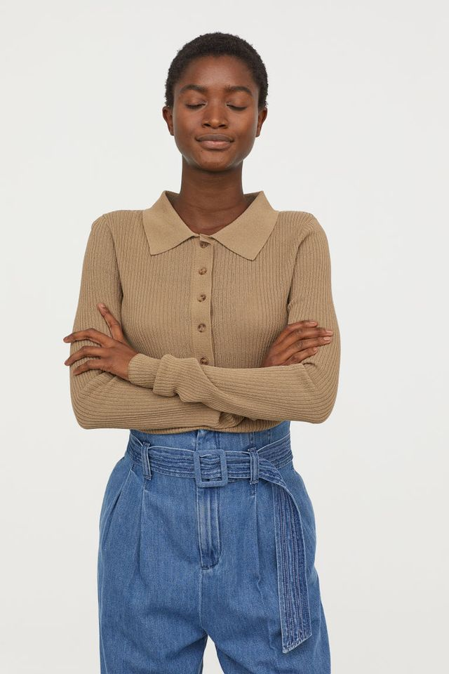 H&M Top With Collar
