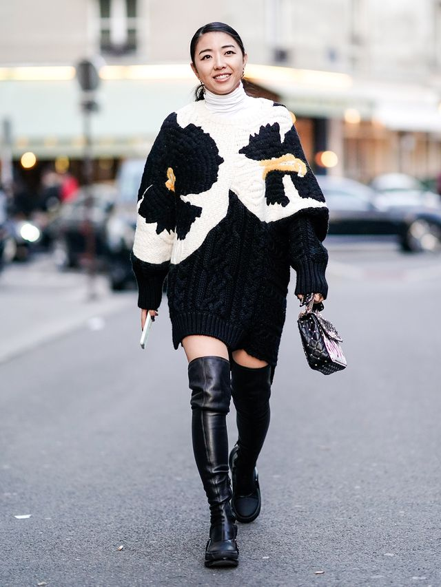 Black-and-White Fashion Trend: Sweater