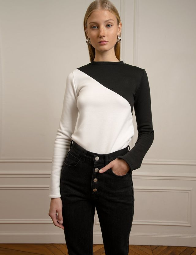 Pixie Market Black and White Top