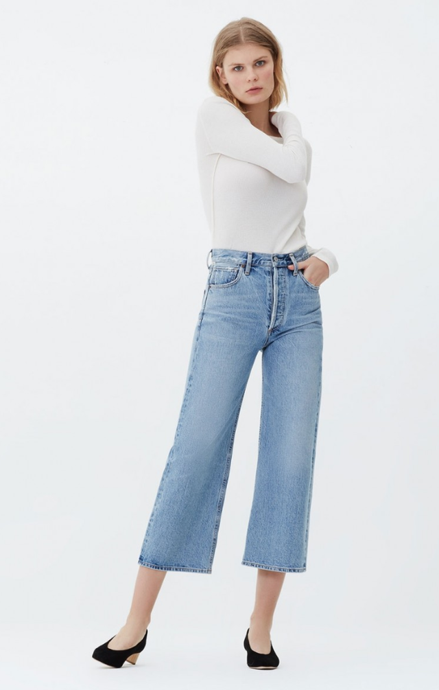 Citizens of Humanity Sacha High Rise Wide Leg Cropped