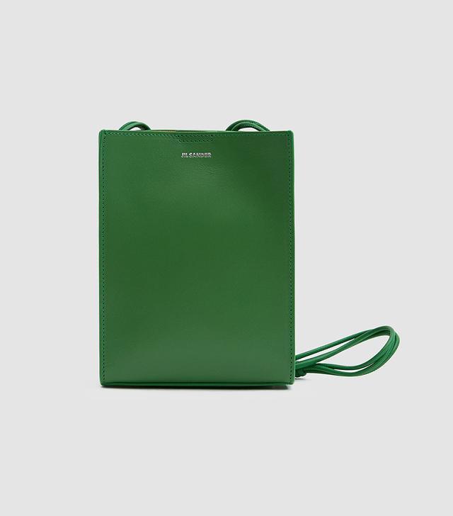 Jil Sander Small Tangle Bag in Bright Green