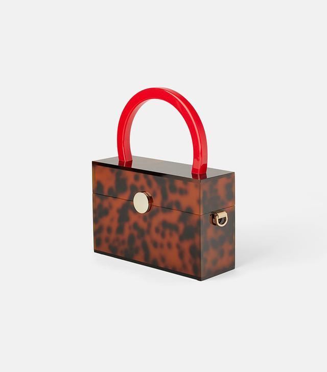 Zara Animal Print Methacrylate Handbag