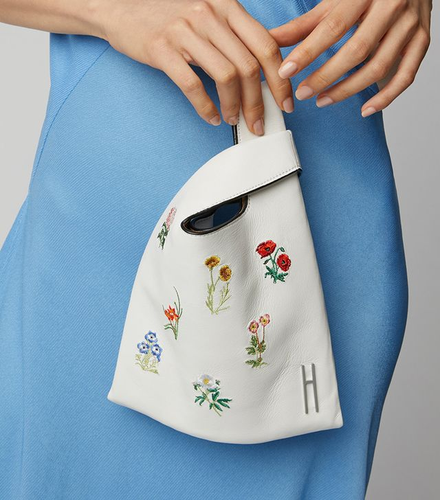 Hayward Mini Floral-Embroidered Leather Shopper