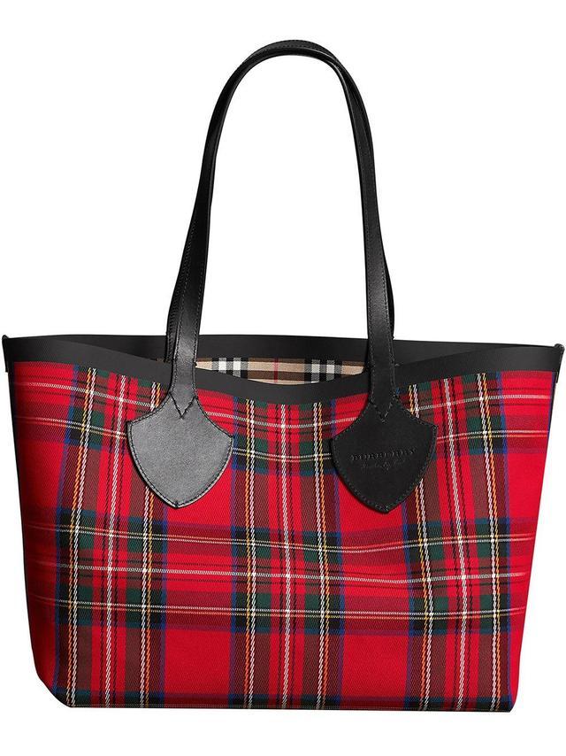 Burberry Reversible Vintage Check Tote Bag