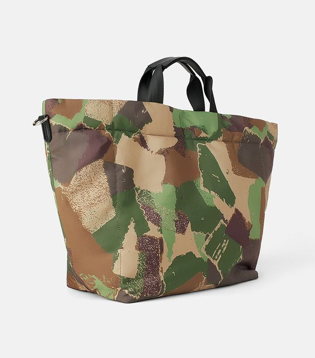 Zara Camouflage Padded Shopper Bag